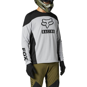 Fox Defend Foxhead Langarm Trikot Herren steel grey